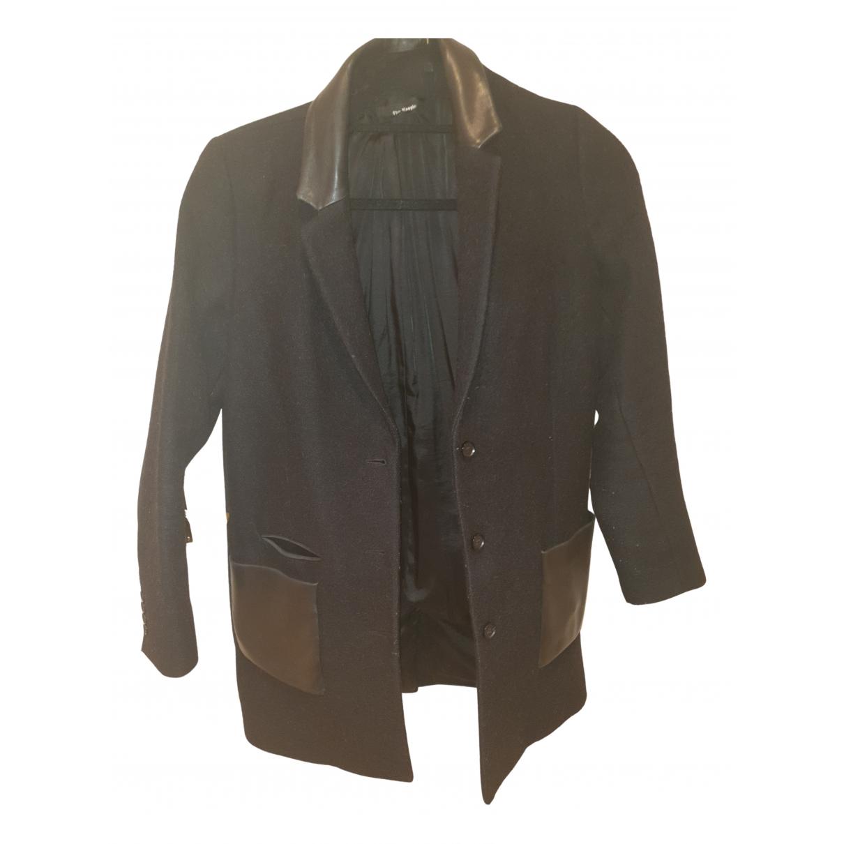 The Kooples N Black Wool coat for Women 38 FR