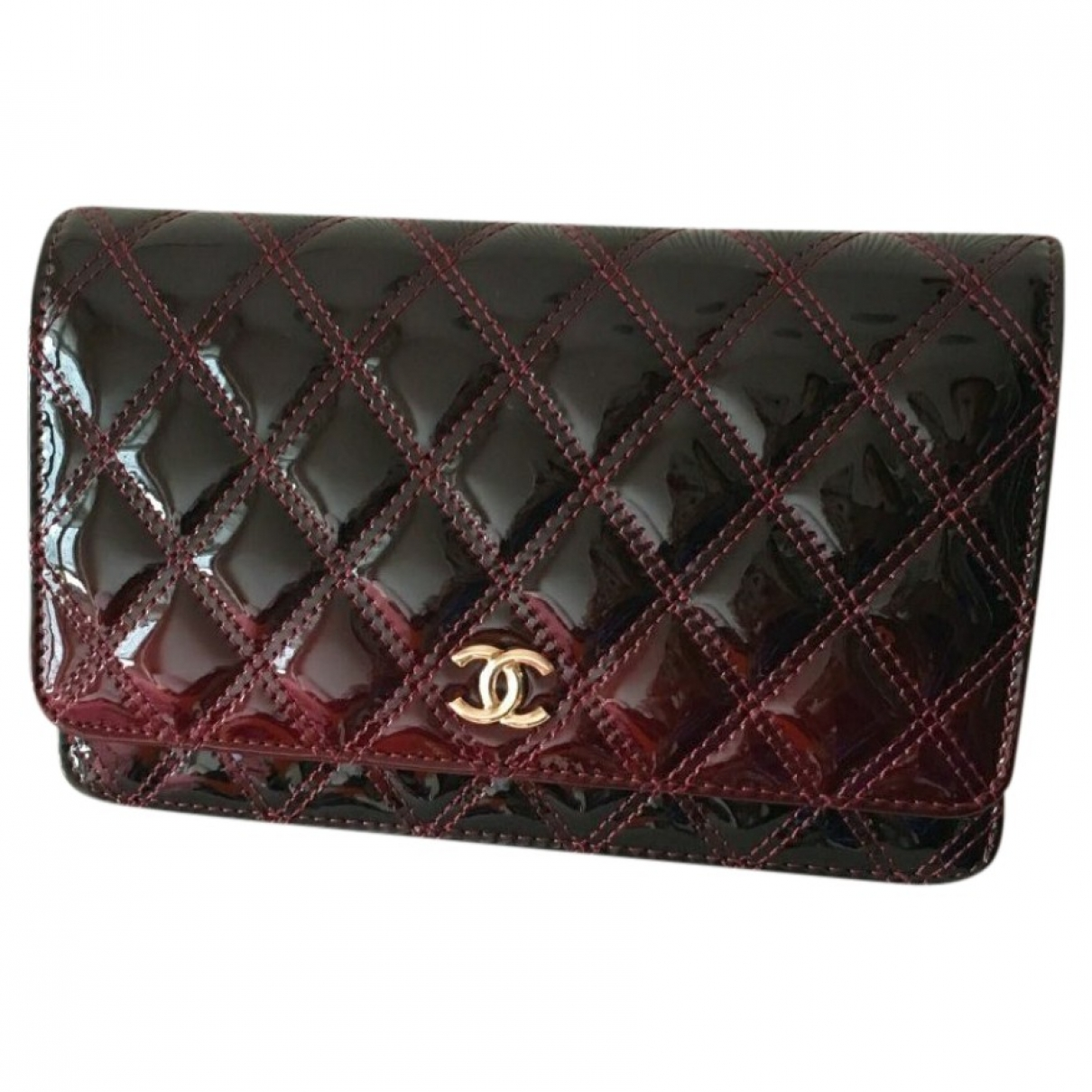 Chanel Wallet on Chain Red Patent leather handbag for Women \N