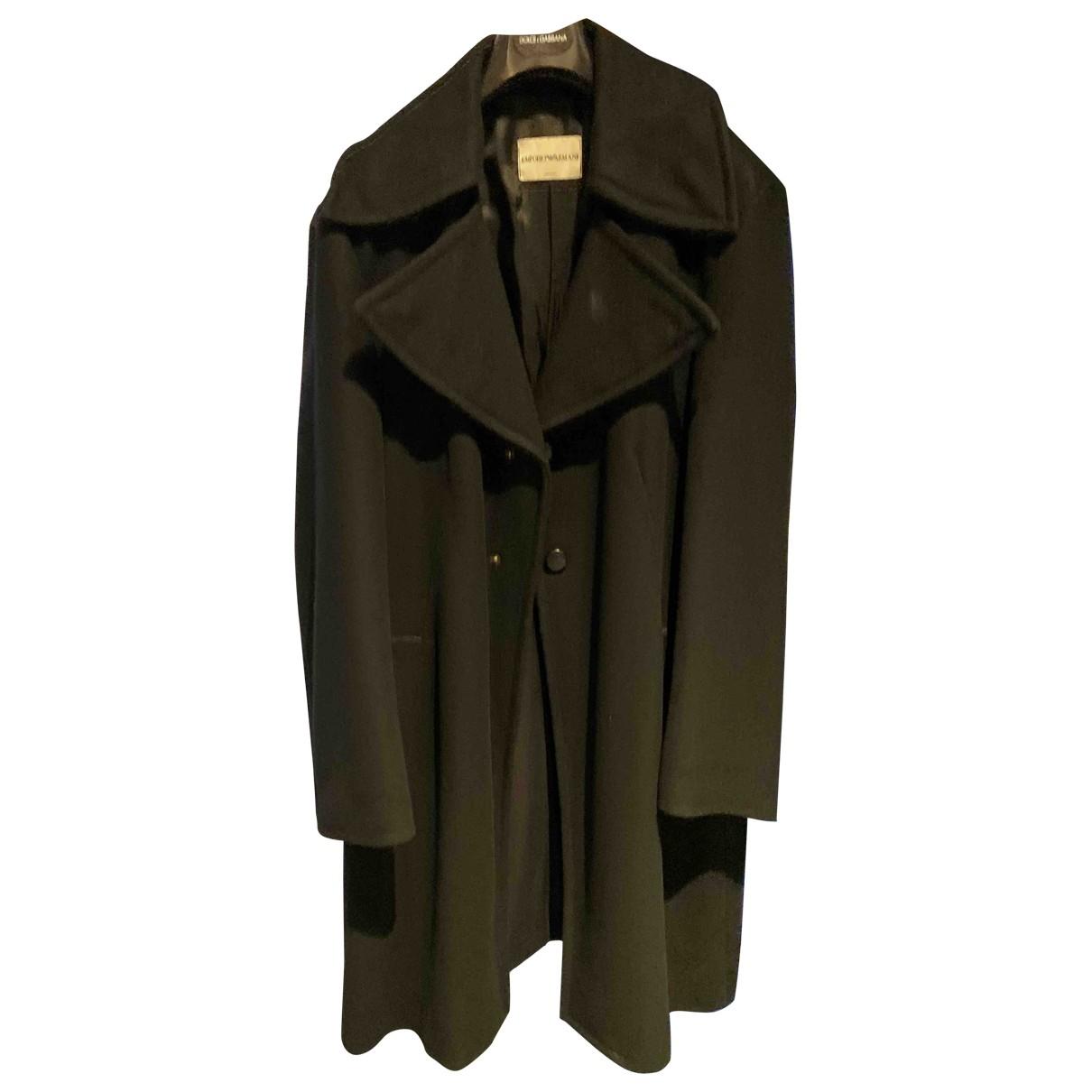 Emporio Armani \N Black Wool coat  for Men 52 IT