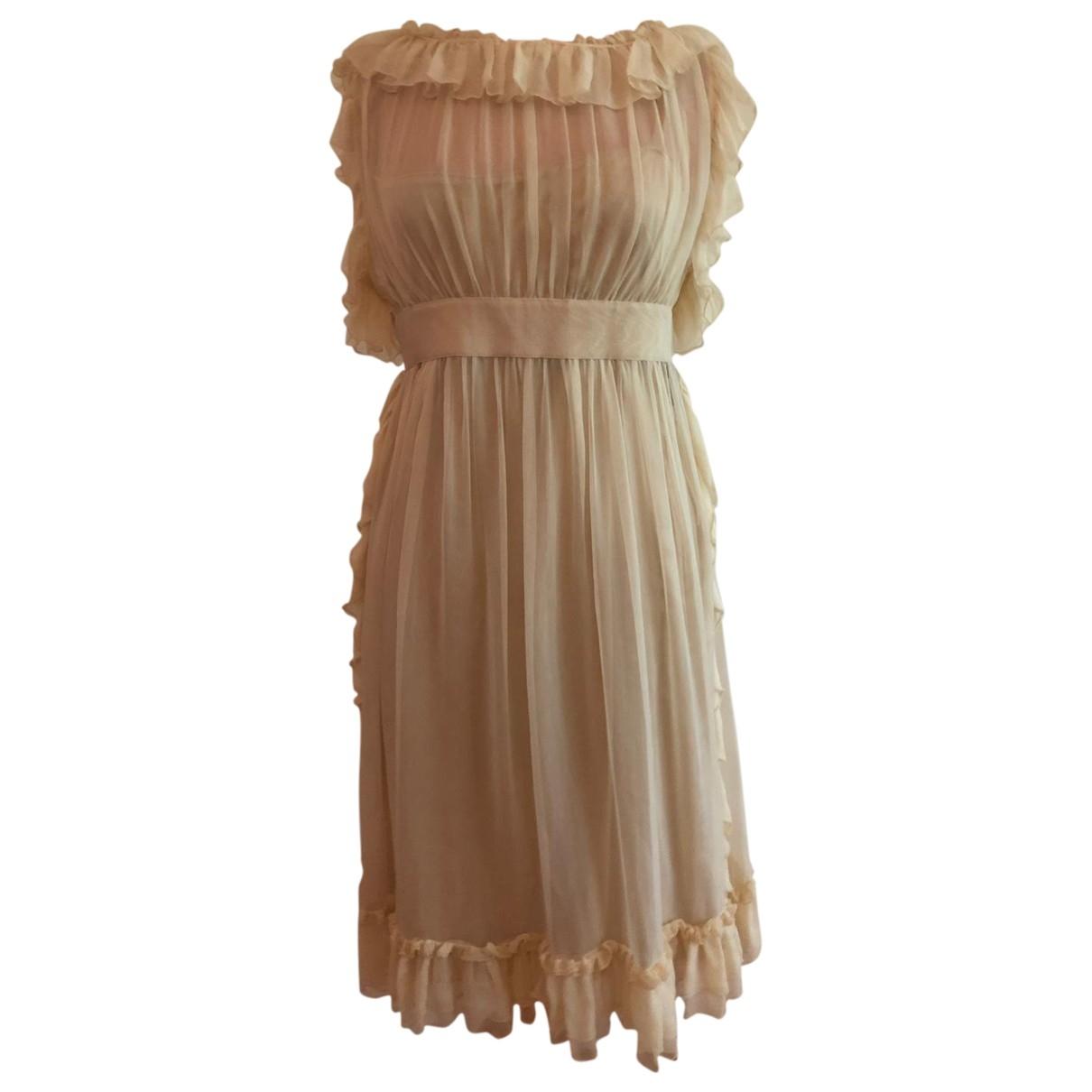 Dolce & Gabbana \N Kleid in  Ecru Seide