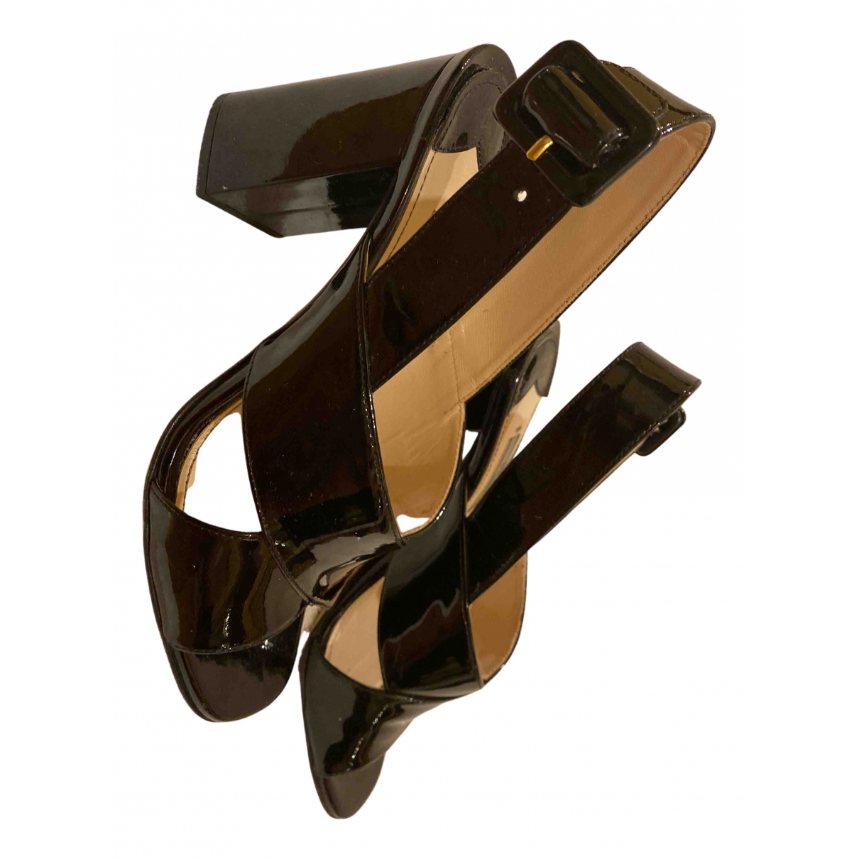 Prada N Black Patent leather Sandals for Women 36 IT