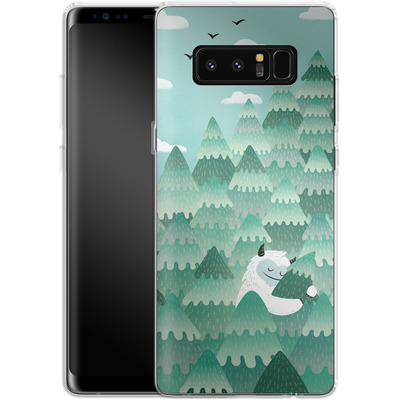 Samsung Galaxy Note 8 Silikon Handyhuelle - Tree Hugger von Little Clyde