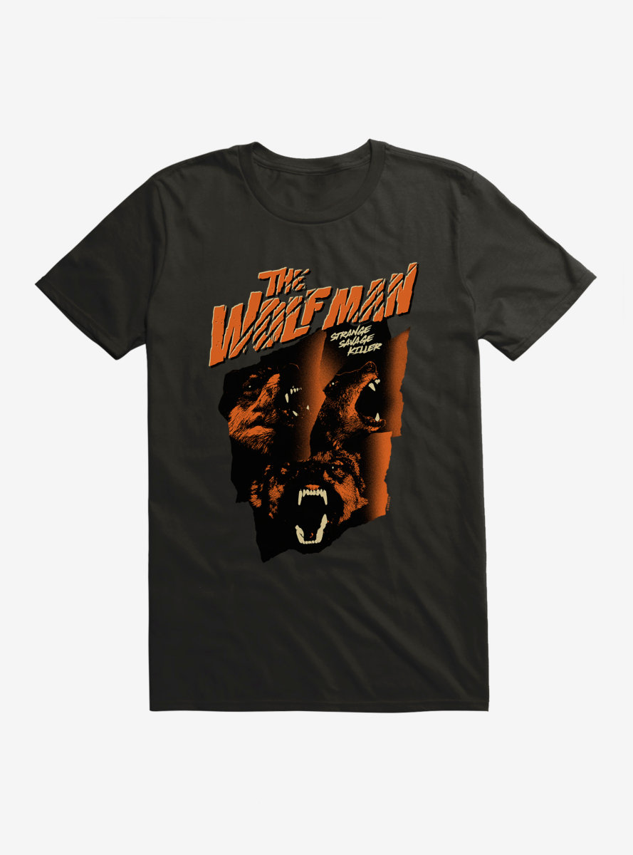 Universal Monsters The Wolf Man Strange Savage Killer T-Shirt