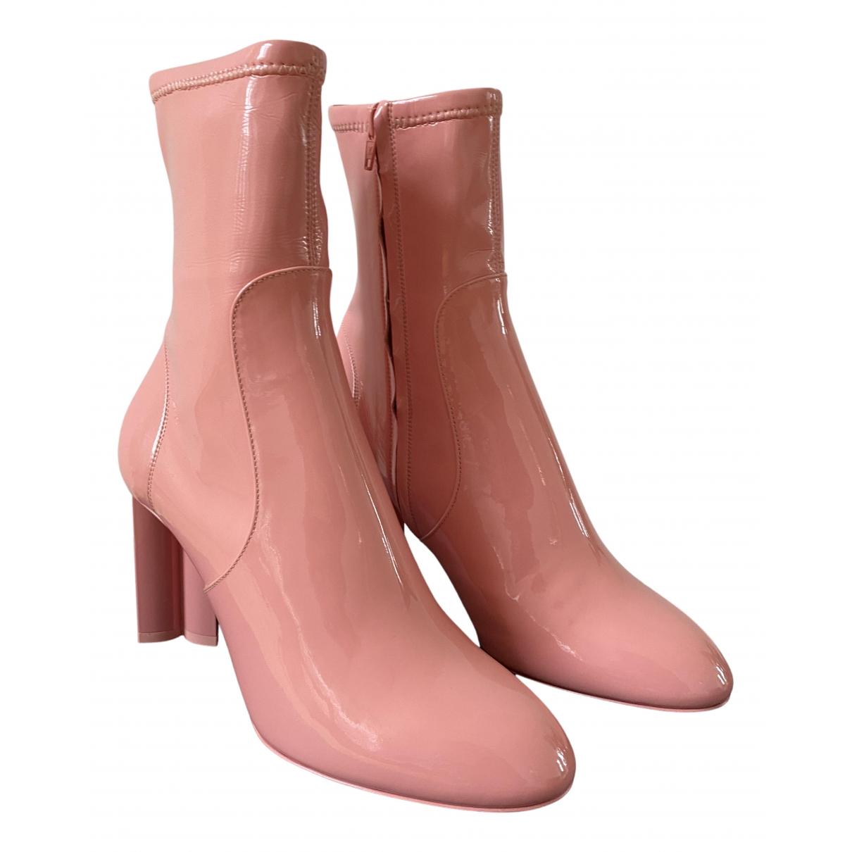Louis Vuitton \N Stiefel in  Rosa Lackleder