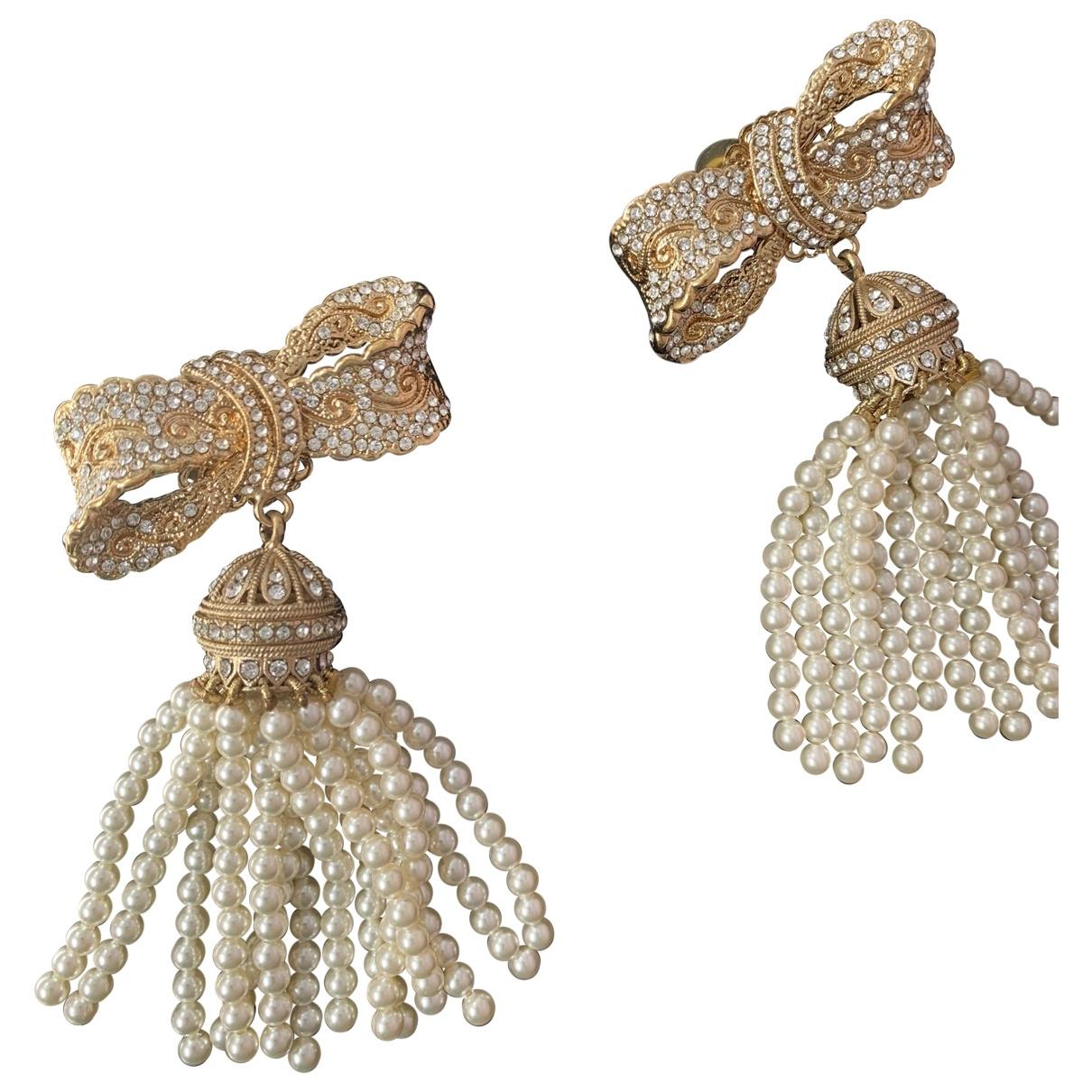 Dolce & Gabbana - Boucles doreilles   pour femme en plaque or - beige