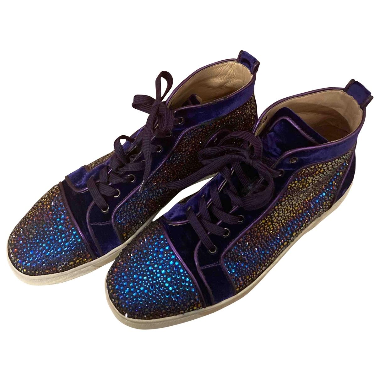 Christian Louboutin Louis Sneakers in  Lila Leder