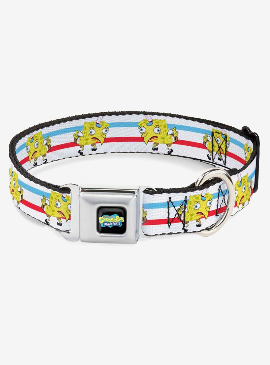 Spongebob Squarepants Mocking Pose Dog Collar Seatbelt Buckle