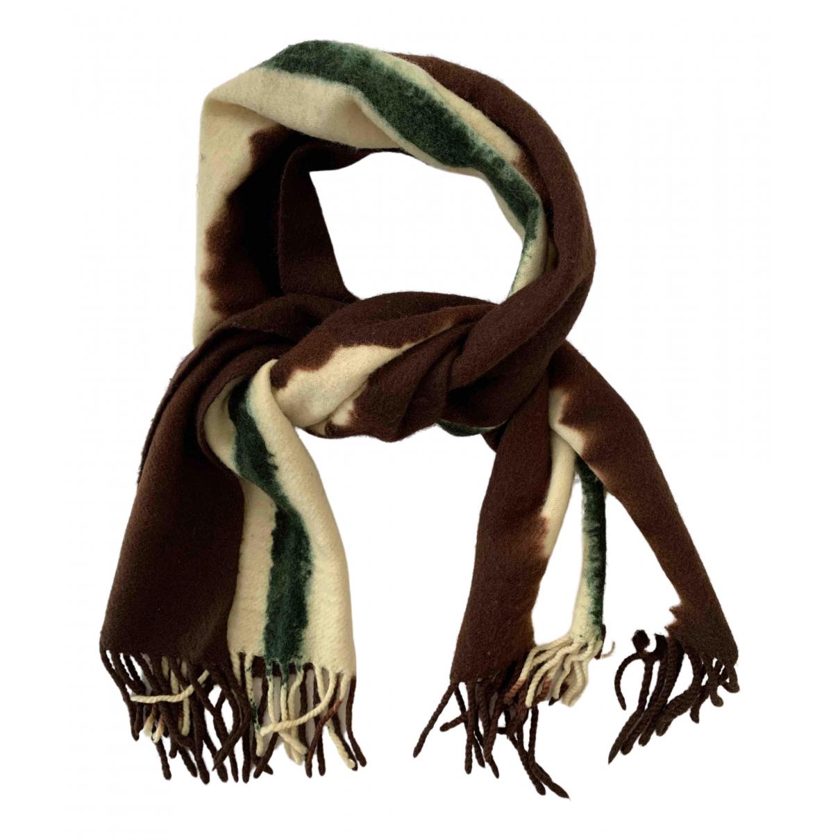 Yohji Yamamoto \N Tuecher, Schal in  Braun Wolle