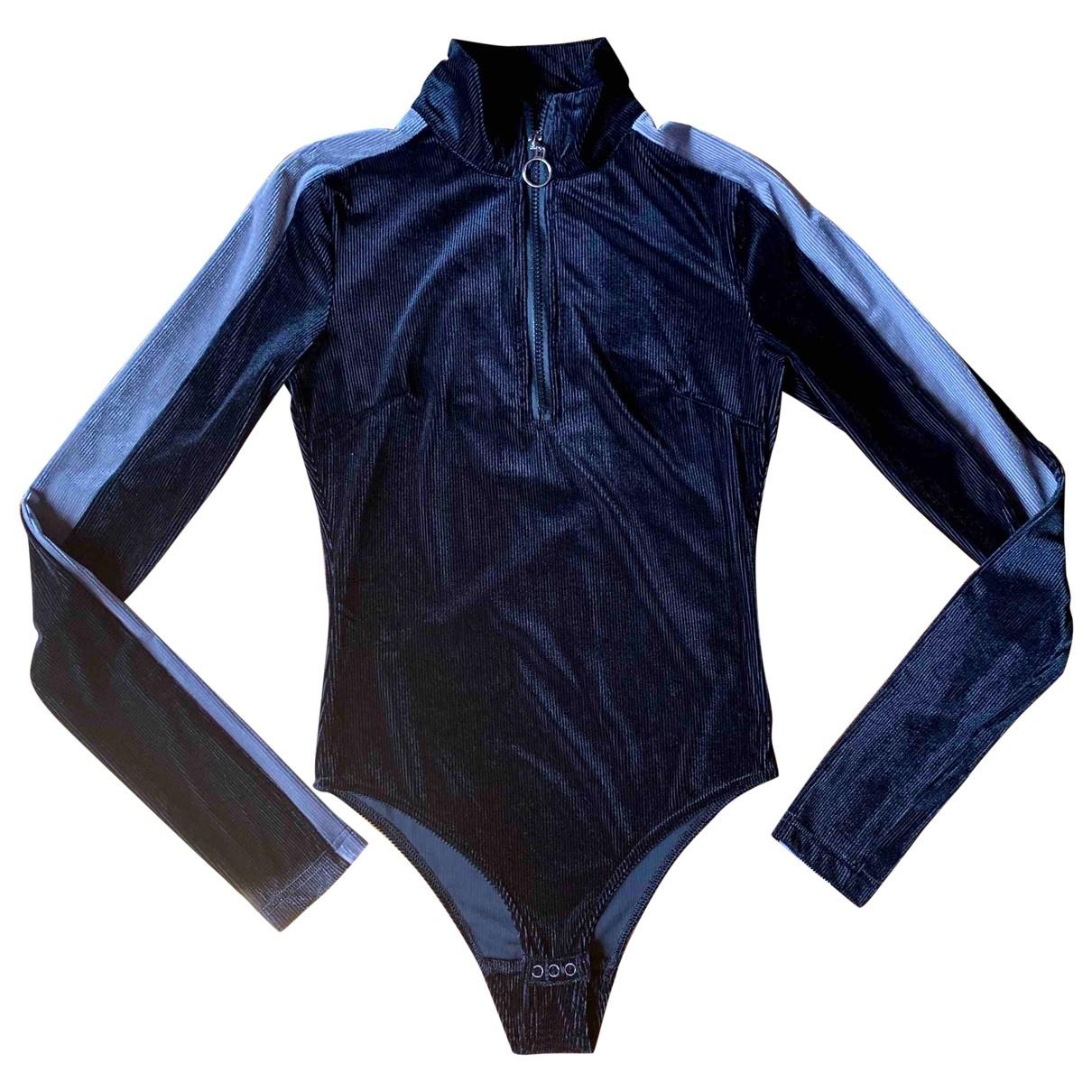 Weili Zheng \N Top in  Schwarz Polyester