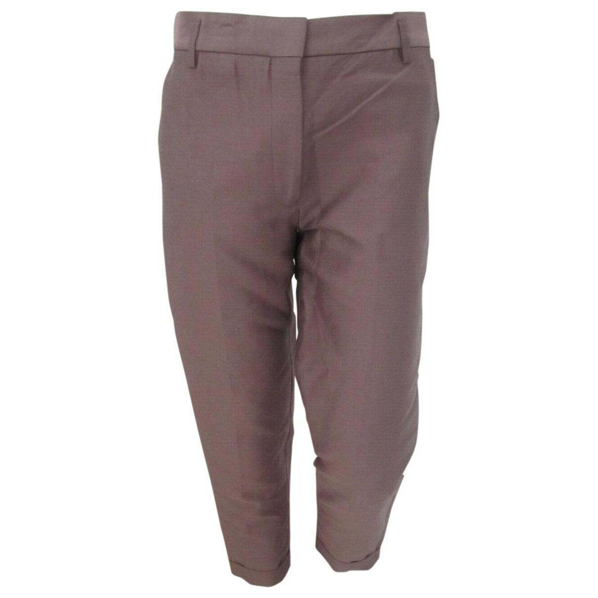 Haider Ackermann \N Purple Cotton Trousers for Women 38 FR