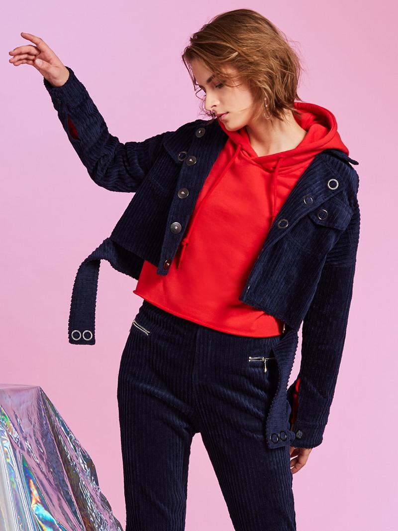 Ericdress Straight Lapel Single-Breasted Plain Women's Jacket