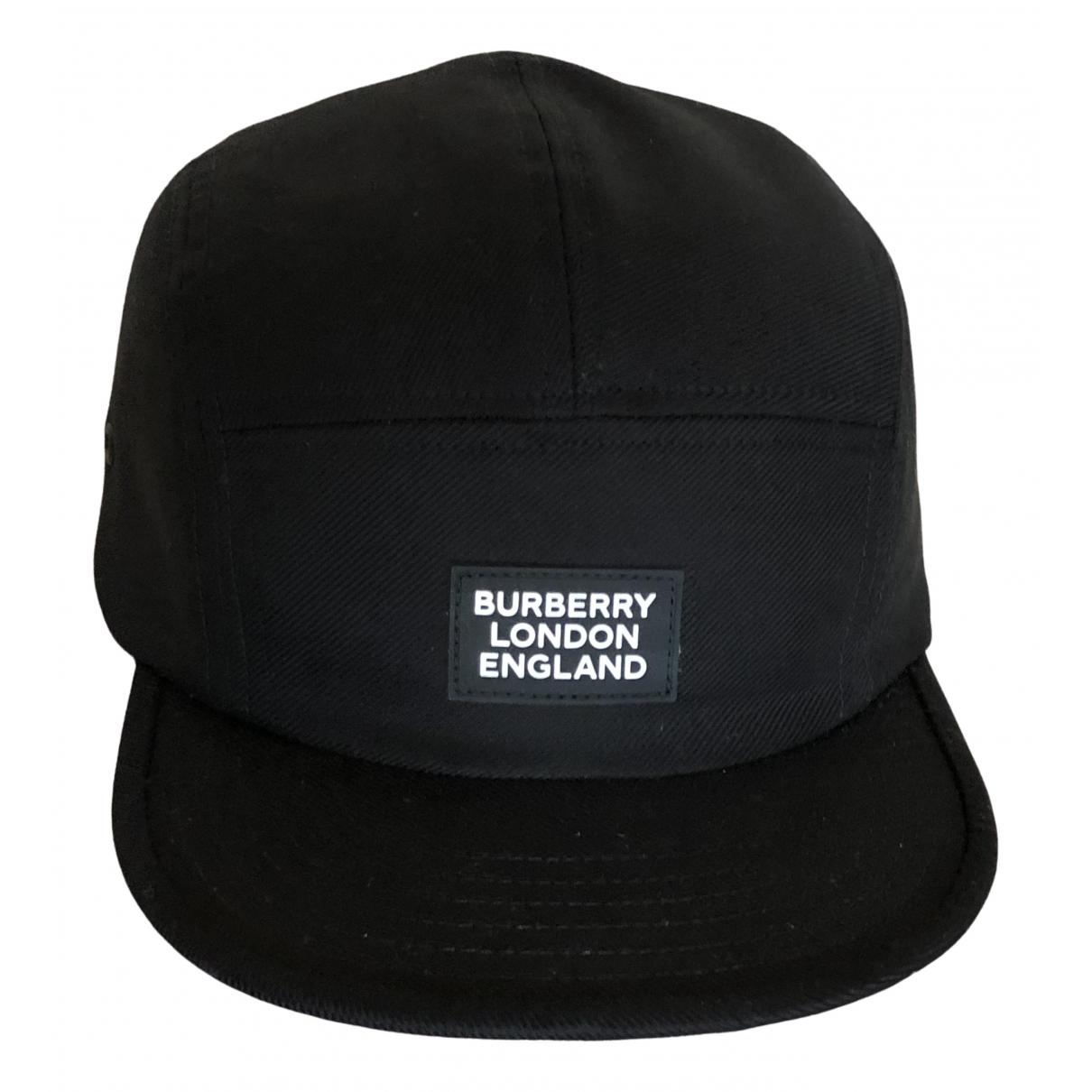 Burberry - Chapeau & Bonnets   pour homme en coton - noir