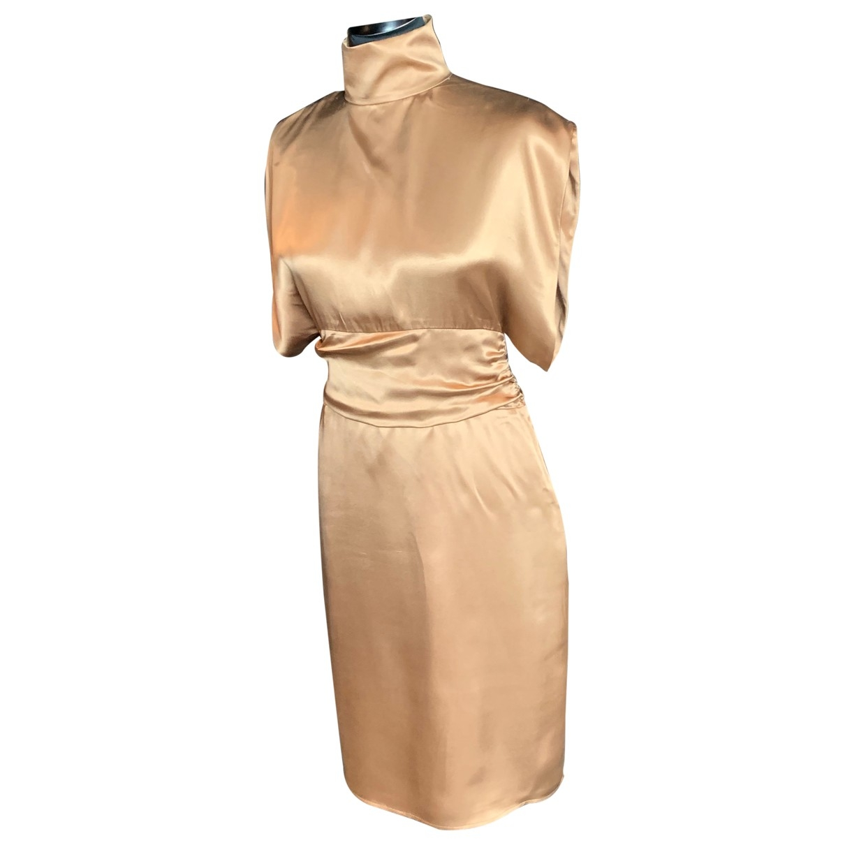 Costume National \N Kleid in  Gold Seide