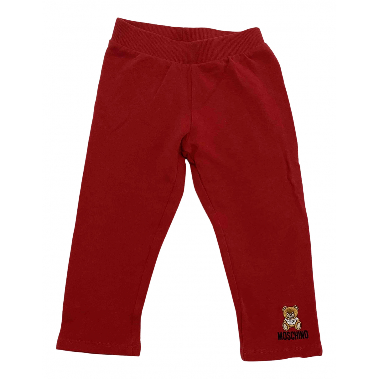 Moschino - Pantalon   pour enfant en coton - rouge