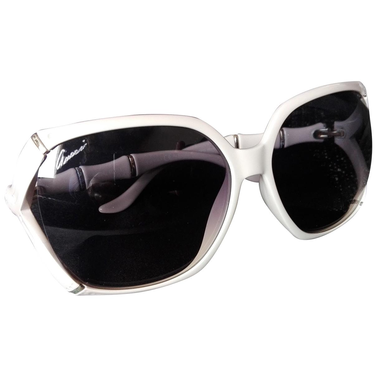 Gucci \N Sonnenbrillen in  Weiss Kunststoff