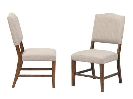 DLU-BR-C85-AM-2 Simply Brook Upholstered Dining Chair Set of 2  in Amish