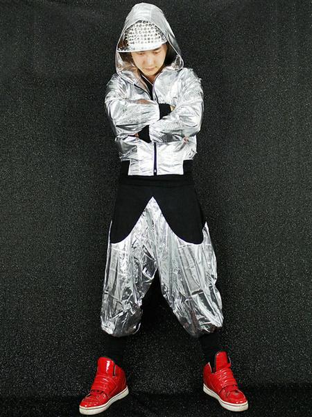 Milanoo Disfraz Halloween Vestido de baile Hip-Hop de poliester de dos tonos de Hip hop con pantalones&con abrigo  Halloween
