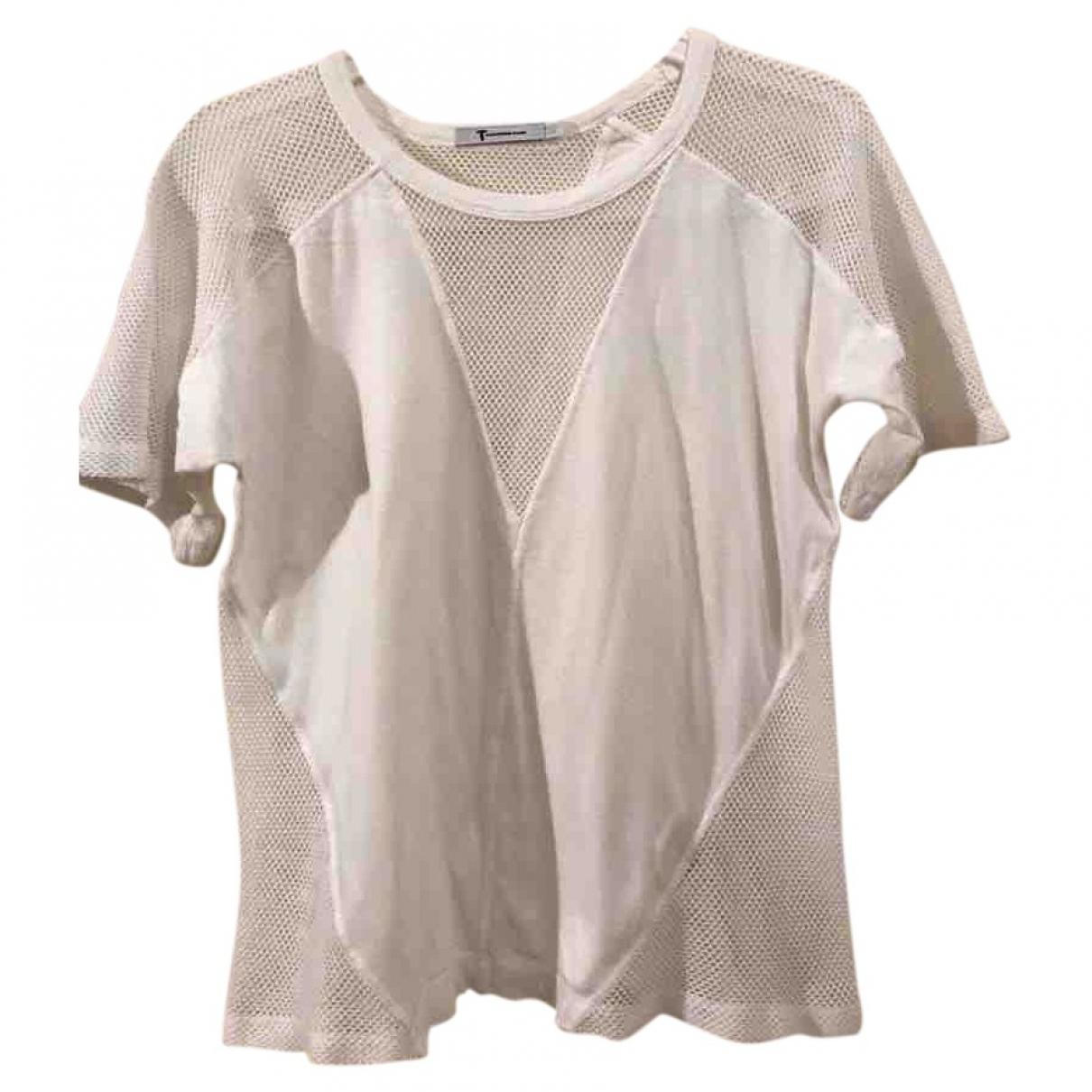 T By Alexander Wang - Top   pour femme en coton - blanc