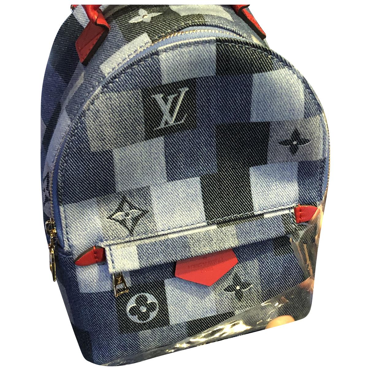 Louis Vuitton Palm Springs Rucksaecke in  Blau Denim - Jeans