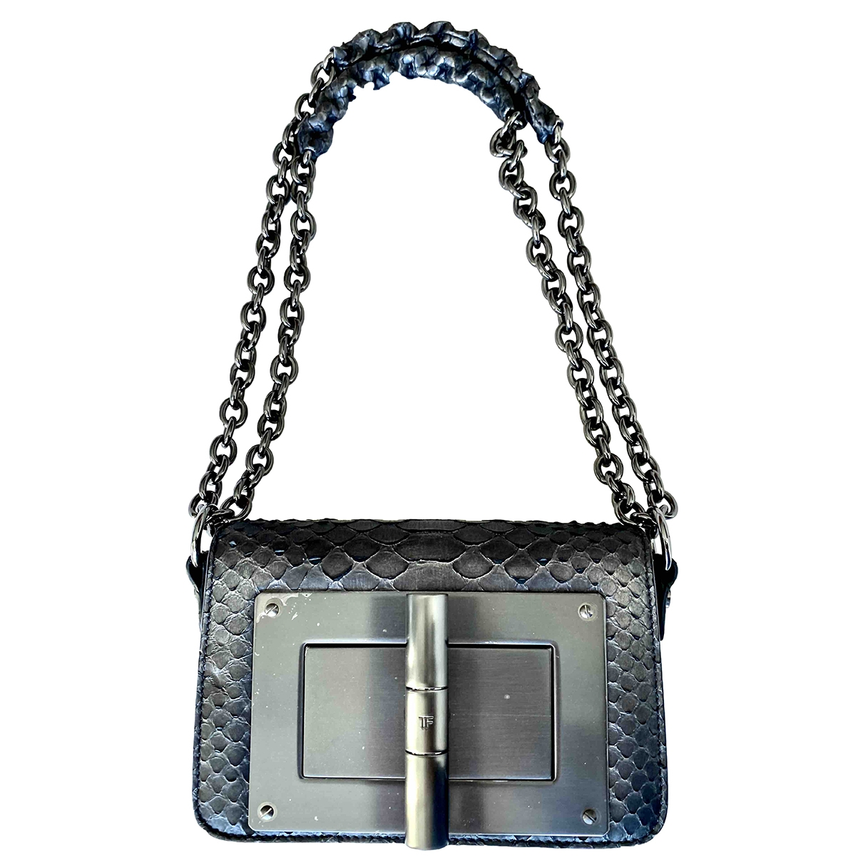 Tom Ford Natalia Clutch in  Anthrazit Python