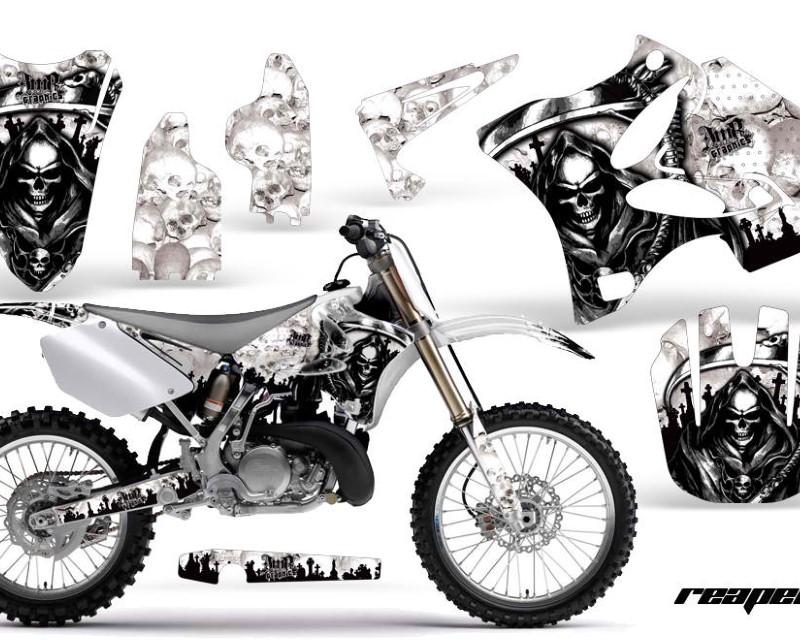 AMR Racing Dirt Bike Graphics Kit Decal Wrap for Yamaha YZ125 YZ250 2002-2014áREAPER WHITE