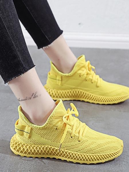 Yoins Breathable Mesh Flying Sheer Sneakers