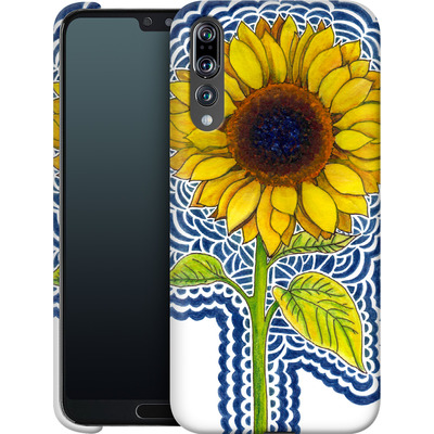Huawei P20 Pro Smartphone Huelle - Sunflower Drawing von Kaitlyn Parker
