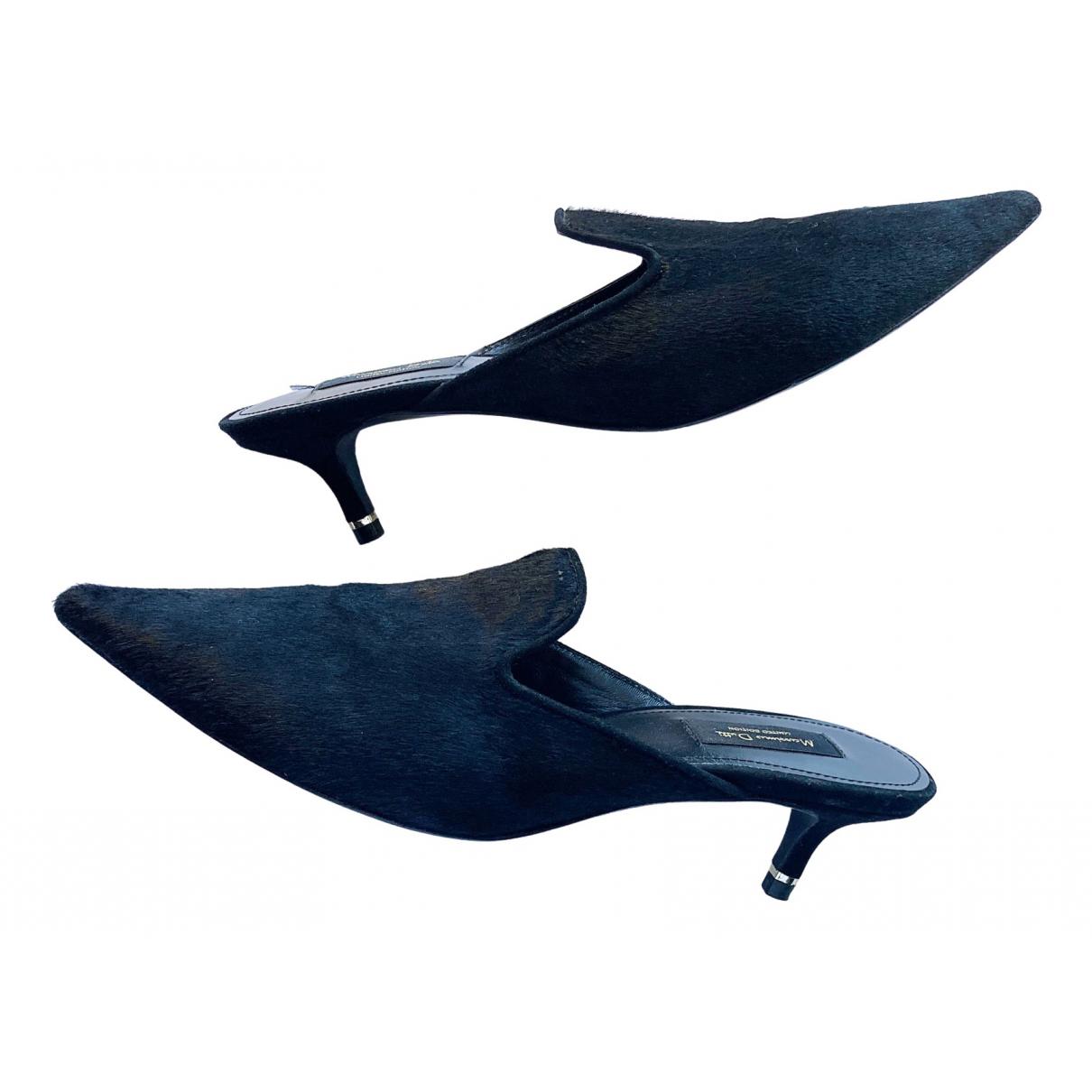 Tacones de Piel de potro de imitacion Massimo Dutti