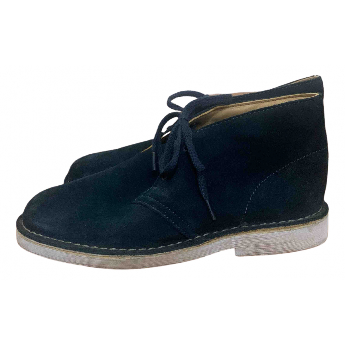 Clarks N Blue Suede Lace up boots for Kids 2 UK