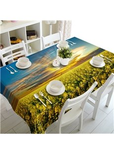 Gorgeous Cole Flowers Field Prints Dining Room Decoration 3D Tablecloth