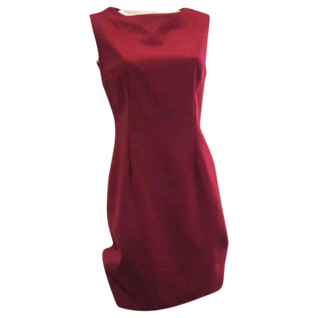 Non Signé / Unsigned \N Burgundy Wool dress for Women 38 FR