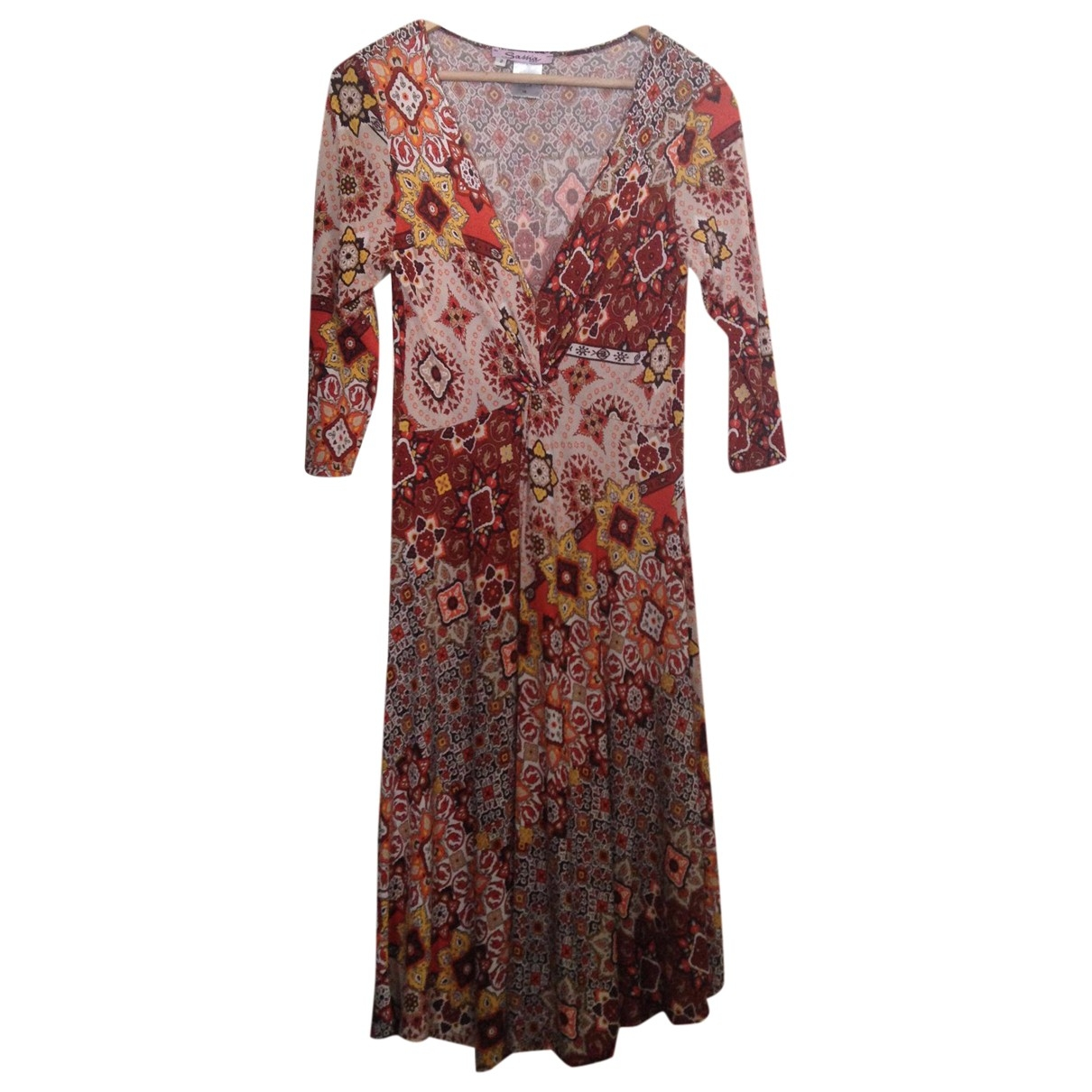 Non Signe / Unsigned \N Kleid in  Braun Polyester