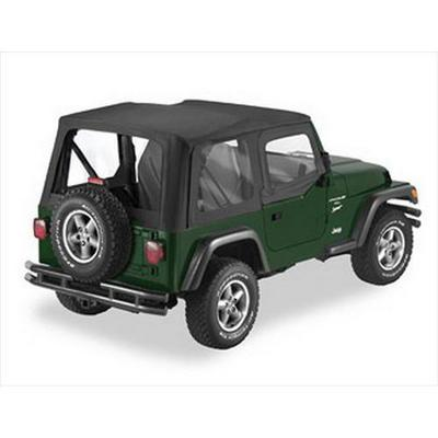 Pavement Ends The Replay Soft Top with Clear Windows and Upper Doorskins (Black Diamond) - 51131-35