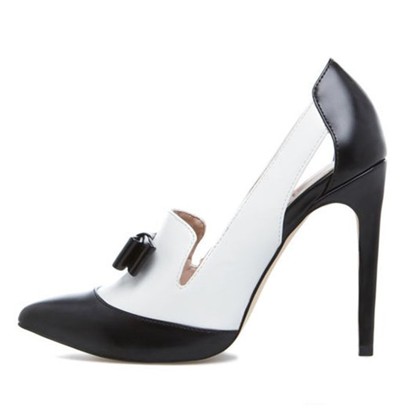 Ericdress Color Block Bowtie Point Toe Stiletto Pumps