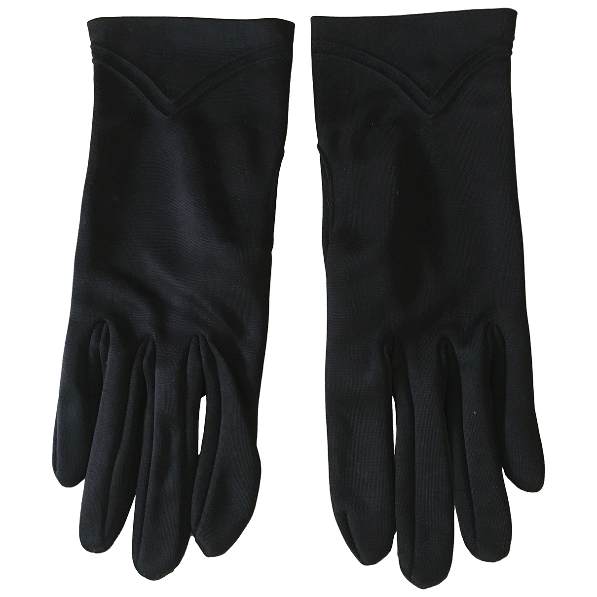 Non Signé / Unsigned \N Black Gloves for Women 6.5 Inches