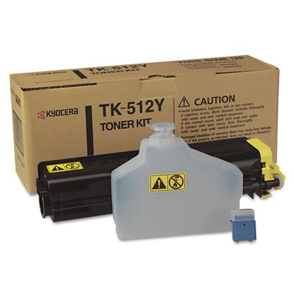 Kyocera-Mita TK512Y originale Yellow Toner Cartridge