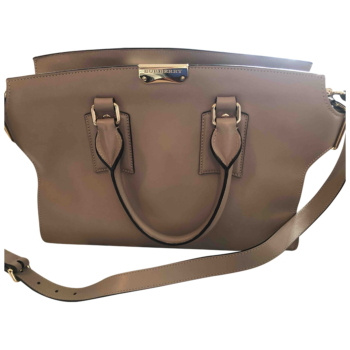 Burberry Woodbury Handtasche in  Beige Leder