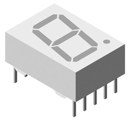 Vishay TDSO5160  7-Segment LED Display, CC Red-Orange 5 mcd RH DP 13mm (5)