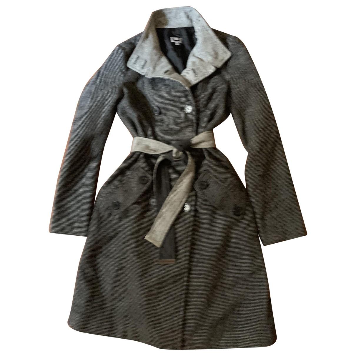 Adolfo Dominguez - Manteau   pour femme en laine - gris