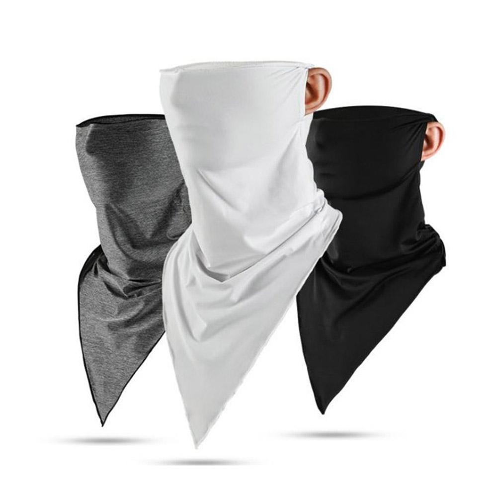 Face Masks New Outdoor Sunscreen Face Mask Full Face Men And Women Motorcycle Riding Ice Silk Headscarf Bib Headgear