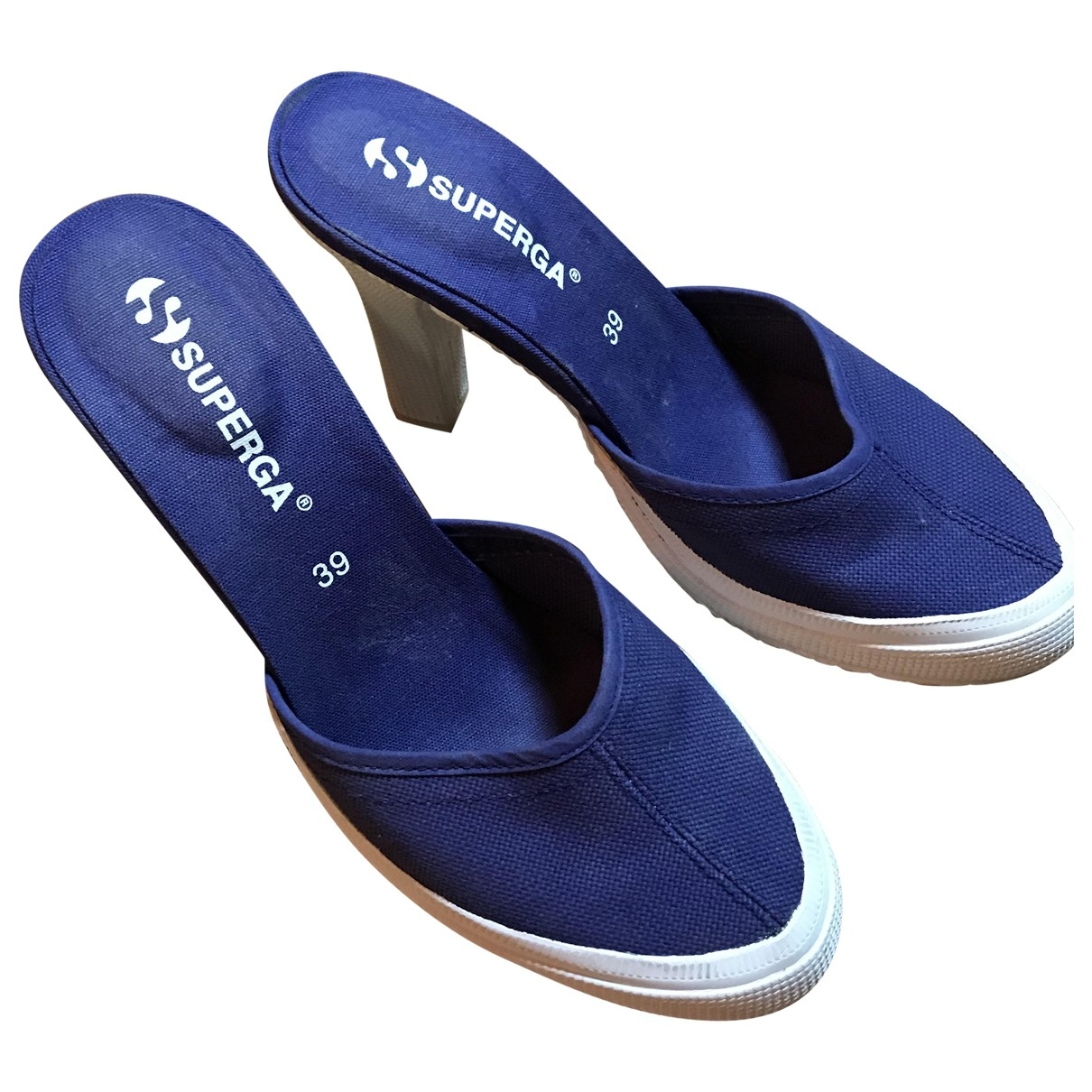 Superga \N Blue Cloth Sandals for Women 39 EU