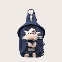 Kids Cartoon Decor Sling Bag