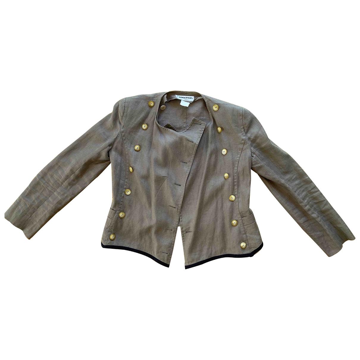 Sonia Rykiel \N Beige Linen jacket for Women 38 FR