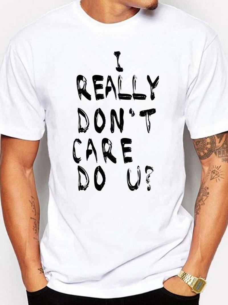Ericdress Casual Round Neck Print Slim Short Sleeve Men's T-shirt
