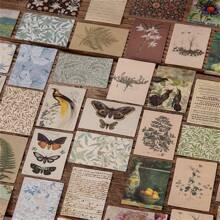 100 Blaetter zufaellige Materialpapier mit Vintage Muster
