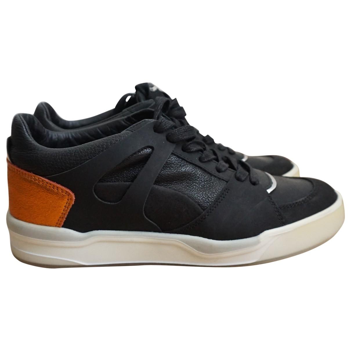 Alexander Mcqueen For Puma - Baskets   pour femme en cuir - noir
