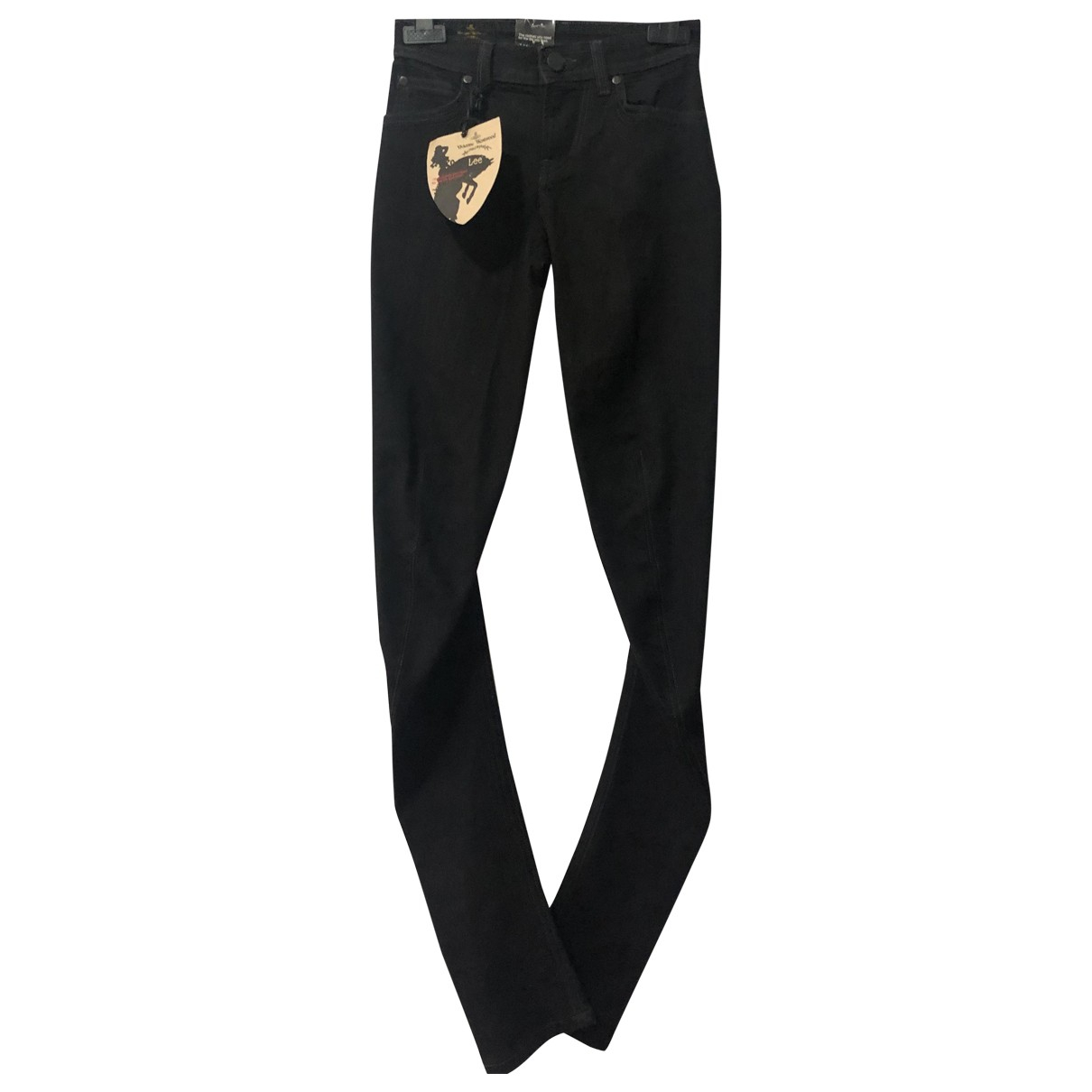 Vivienne Westwood Anglomania N Black Cotton - elasthane Jeans for Women 34 FR