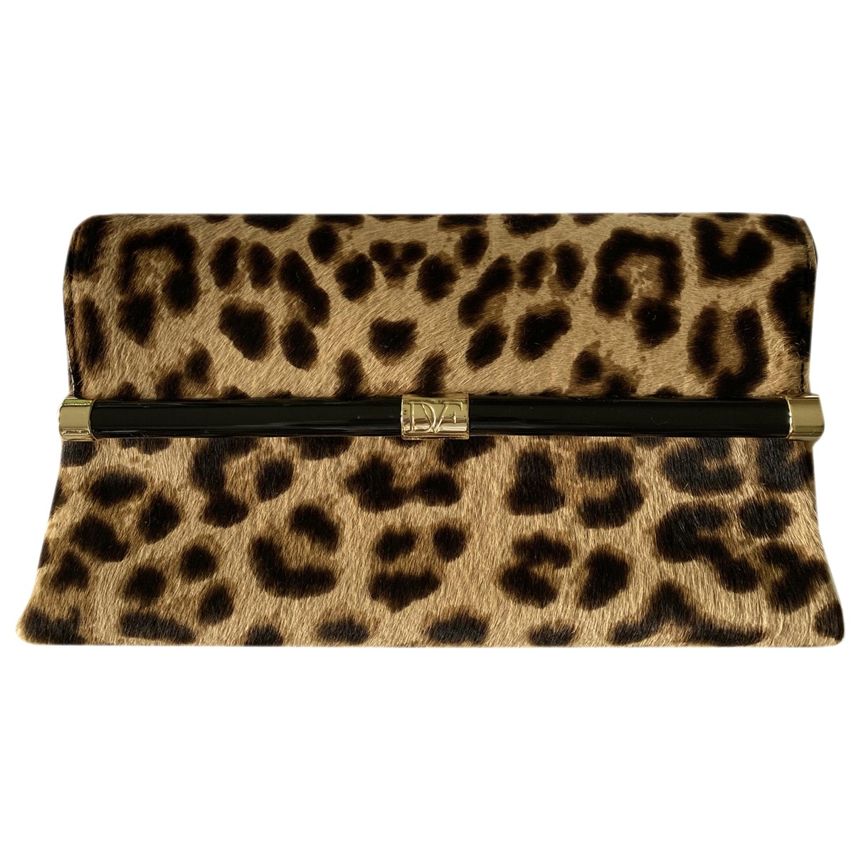 Diane Von Furstenberg \N Clutch in  Beige Kalbsleder in Pony-Optik