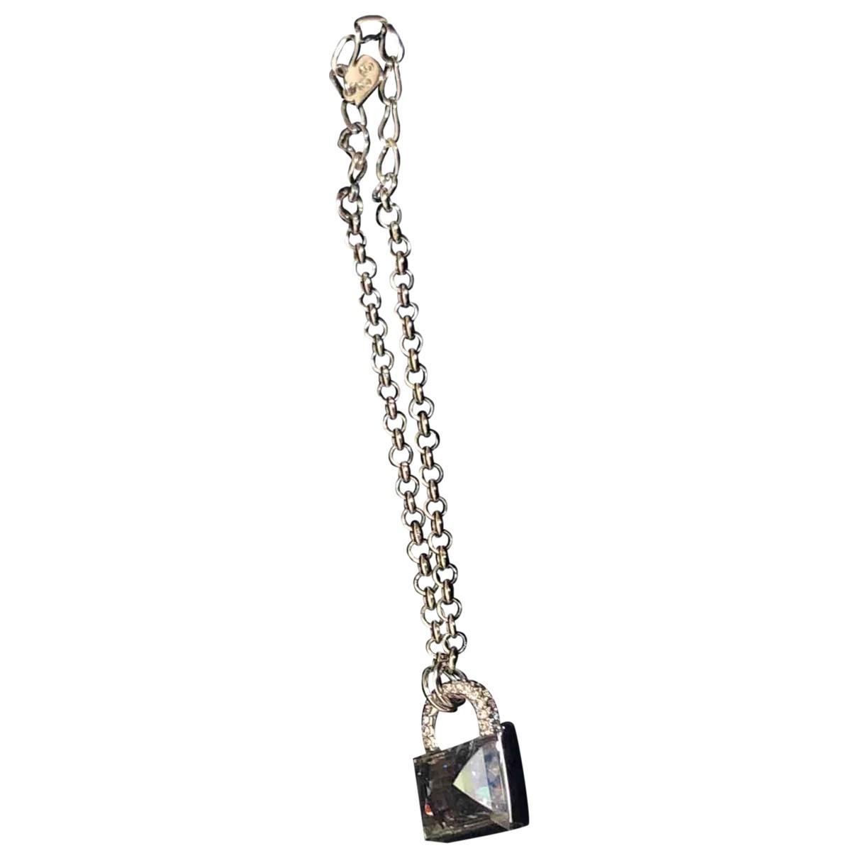 Swarovski \N Armband in  Marine Silber