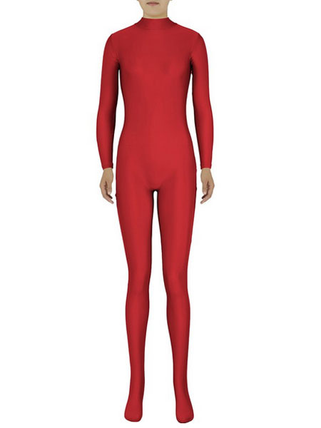 Milanoo Disfraz Halloween Rojo Zentai Sexy traje de Spandex para mujeres Halloween